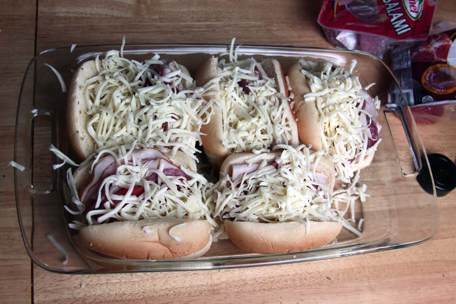 Hot Italian Subs via Spoonful of Easy