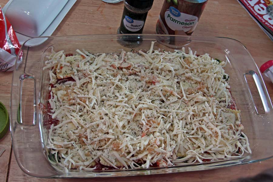 No Boil Ravioli Bake via Spoonful of Easy