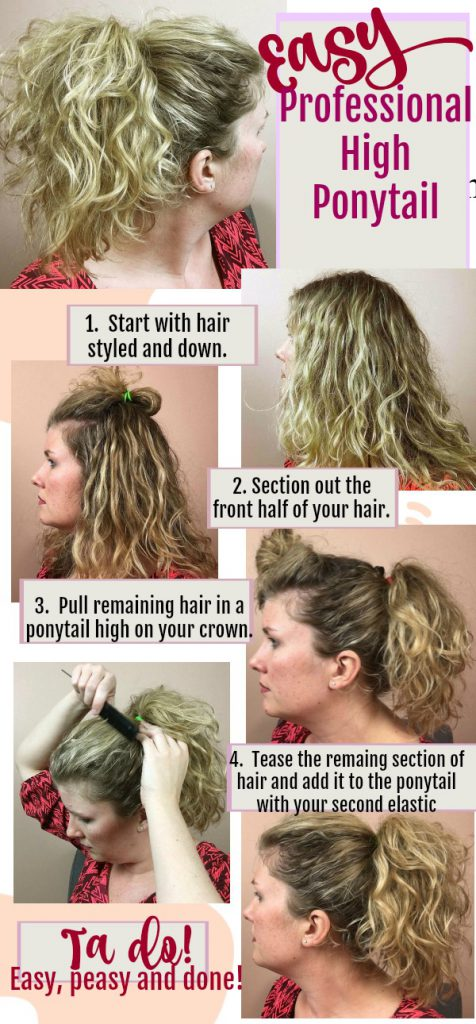 Professional High Ponytail #easyhairstyles #hair