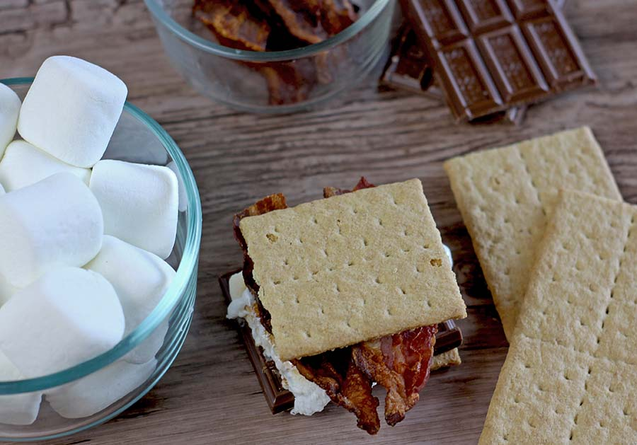 Smores Bar Platter | Salty on Sweet Smores! #smoresbar #smores