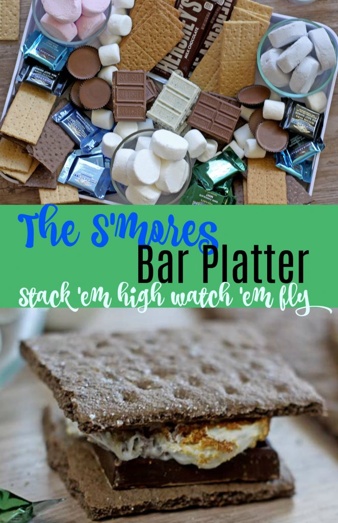 Smores Bar Platter | Spoonful of Easy #smoresbar