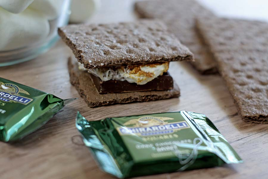 Smores Bar Platter | The Mint Chocolate Dream Smore #smoresbar #smores