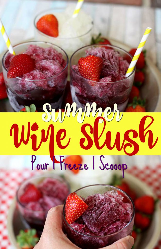 Easiest Ever Wine Slushies | Spoonful of Easy #wineslushierecipe