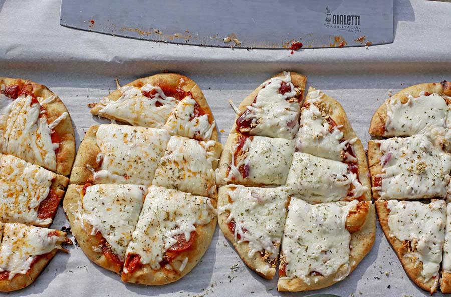 Easy Naan Pizzas ~ Practically Foolproof!