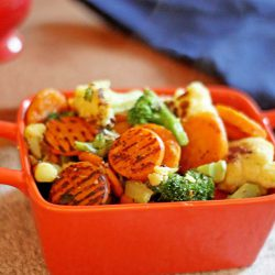 Pan Roasted Vegetables (from frozen!)