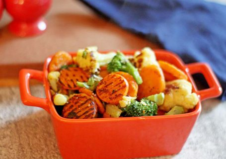 Pan Roasted Vegetables (from frozen!) | Spoonful of Easy #roasted vegetables