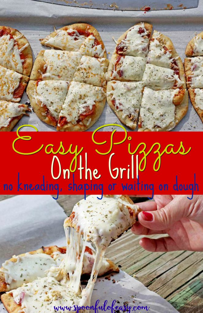 Easy Grill Pizzas | Spoonful of Easy #easypizza #grillpizza