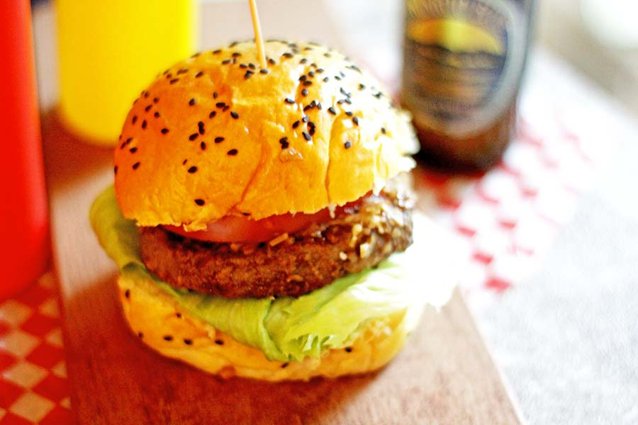 Beer burgers - fancy up leftover burgers!