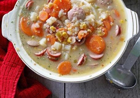 Crockpot Sausage Corn Chowder #crockpotmeals