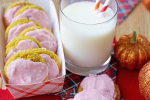 Pumpkin Cookies with Cranberry Frosting
