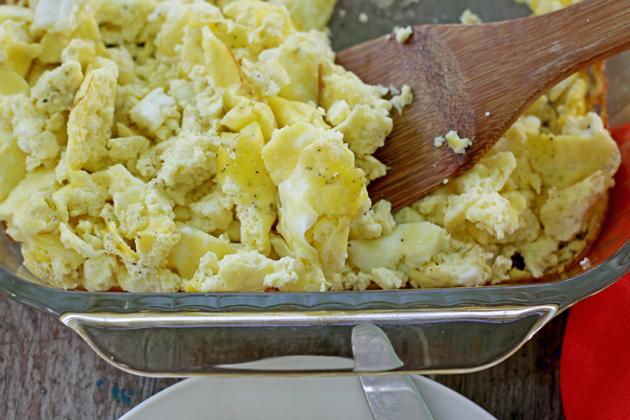 Oven Scrambled Eggs #easybreakfast