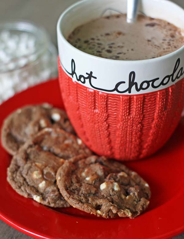 Hot Chocolate Cookies #christmascookies #cookies