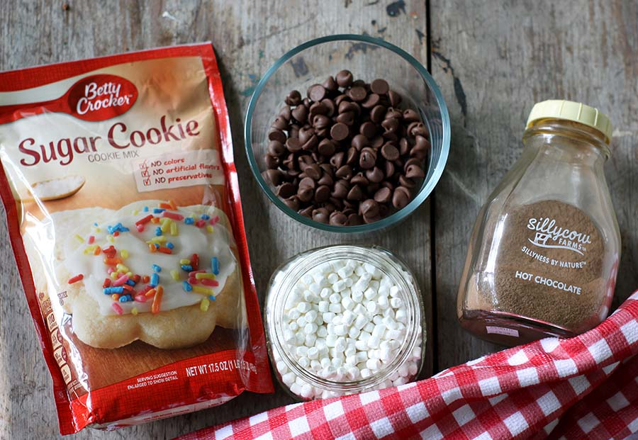 Hot Chocolate Cookies #cookies #christmascookies