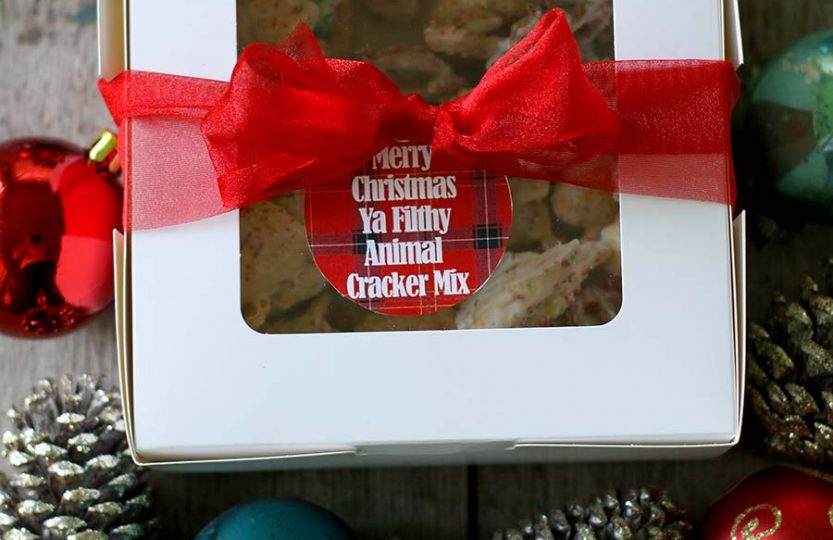 Christmas Animal Cracker Mix #snacks #snackmix