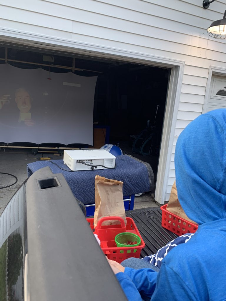at home drive in movie