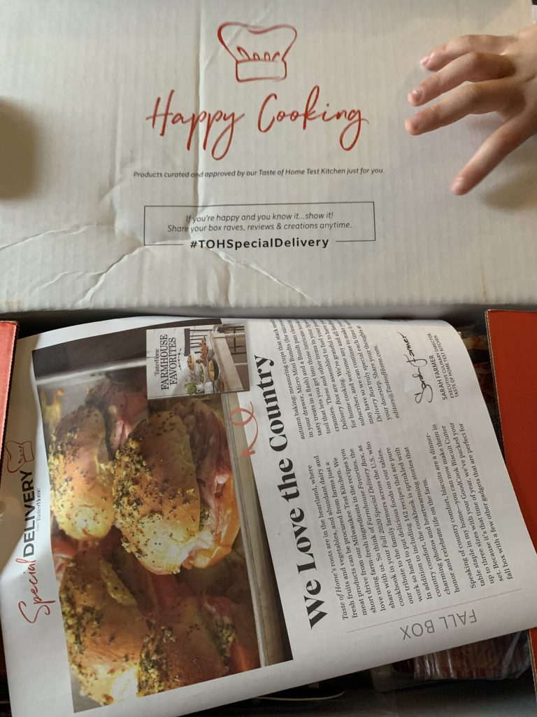 taste of home box review fall 2020