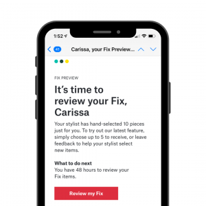 cell phone with it's time to review your Fix, Carissa