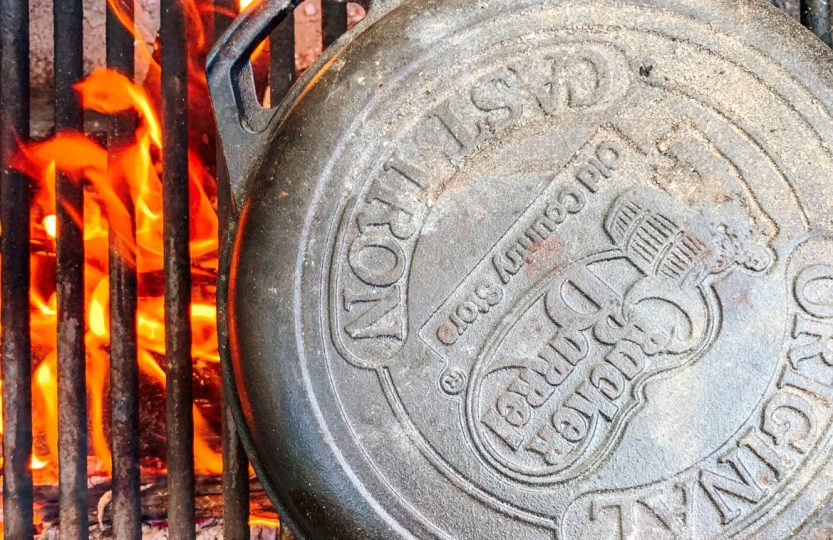 Cast Iron Cooker on a fire