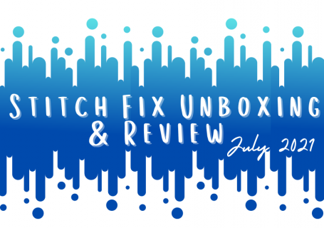 text stitch fix unboxing and review july 2021 on blue dots